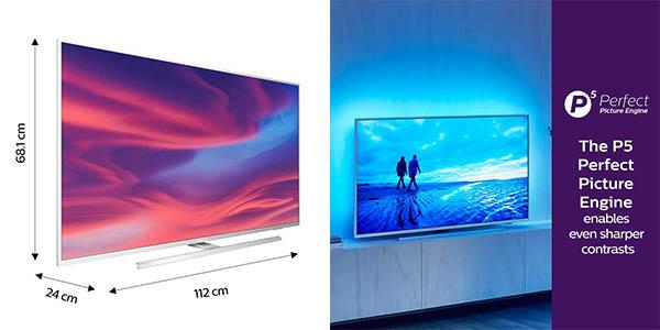Televisor grande Philips Ambilight 50PUS7304/12