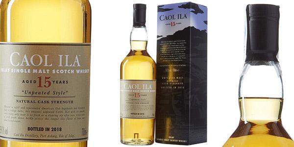 Whisky Escocés Caol Ila Unpeated Style 15 Años de 700 ml barato en Amazon