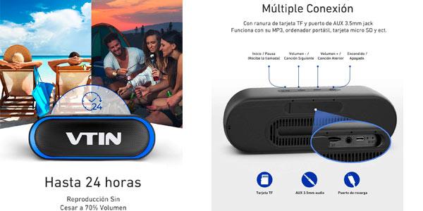 Altavoz Bluetooth VTIN R4 en oferta en Amazon