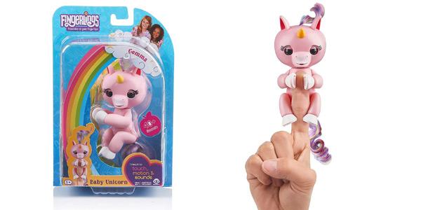 Bebé unicornio Gemma Fingerlings WowWee barato en Amazon