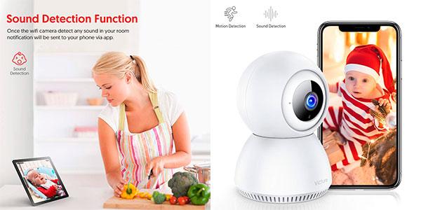 Chollo Cámara de Vigilancia Victure 1080P con detección de sonido y movimiento