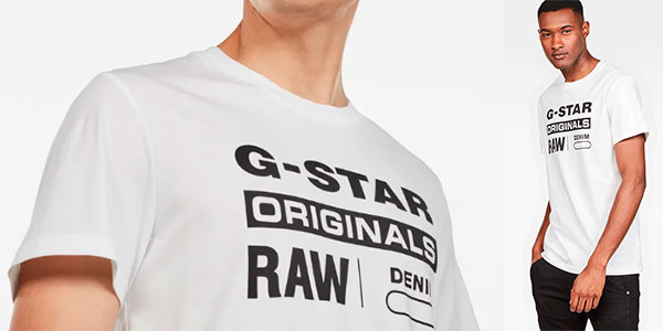 Camiseta G-Star Raw Graphic 8 para hombre barata