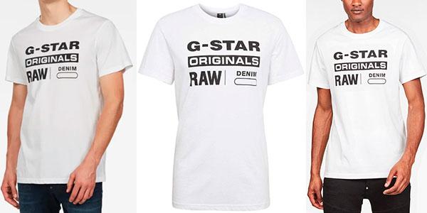Chollo Camiseta G-Star Raw Graphic 8 para hombre