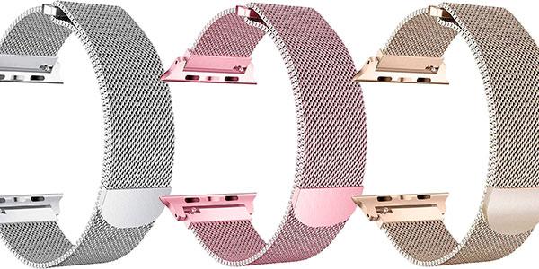 Chollo Pulsera tipo Milanese Loop de acero inoxidable para Apple Watch