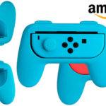 Chollo Kit AmazonBasics de empuñaduras para mandos Joy-Con de Switch
