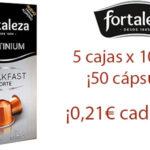 Chollo Pack de cápsulas de café Fortaleza Breakfast Forte compatibles con Nespresso