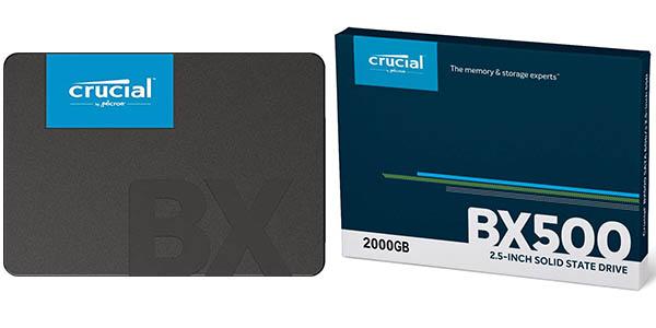 Chollo Disco SSD Crucial BX500 de 120 GB, 240 GB, 480 GB, 960 GB, 1 TB y 2 TB