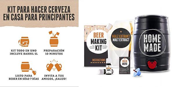 kit Brewbarrel de elaboración de cerveza lager casera oferta