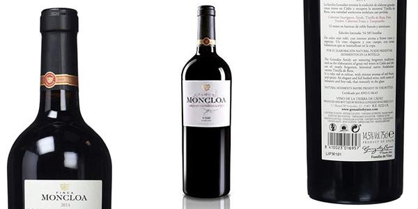Pack x3 Botellas Finca Moncloa Syrah & Cabernet Sauvignon de 750 ml/ud chollo en Amazon