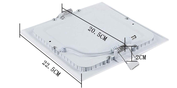 Pack 5x Panel Downlight LED Cuadrado de 18W chollo en Amazon