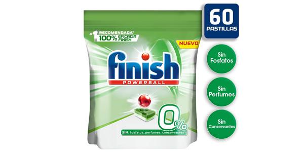 Pack x60 Pastillas Finish 0% para lavavajillas barato en Amazon