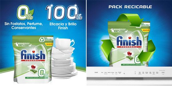 Pack x60 Pastillas Finish 0% para lavavajillas chollo en Amazon