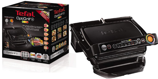 Parrilla de asar Tefal Optigrill+ Black Edition GC712812 de 2.000 W barata en Amazon