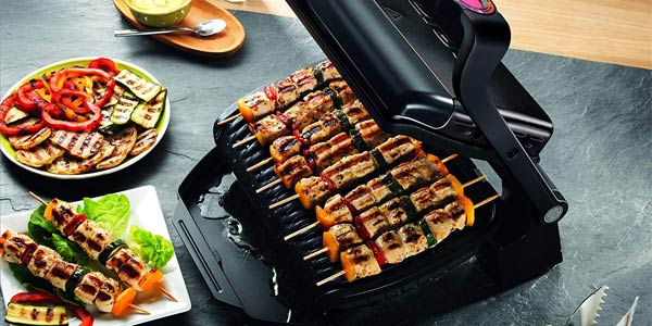 Parrilla de asar Tefal Optigrill+ Black Edition GC712812 de 2.000 W chollo en Amazon
