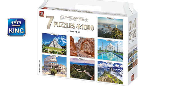 Set de 7 puzles de 1.000 piezas King International (55887) barato en Amazon