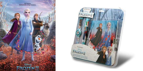 Set Frozen2 de Reloj Digital + Set de Papelería chollo en Amazon