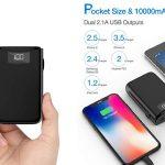 Bateria externa ultraportátil Posugear de 10.000 mAh con pantalla LED barata en Amazon