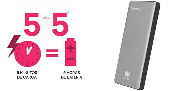 Batería portátil Woxter QC 10500 de 10.500 mAh con Quick Charge 3.0 barato