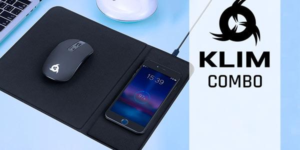 Combo Klim Inspiration + Makepad, pack de alfombrilla con carga inalámbrica + ratón inalámbrico en oferta en Amazon