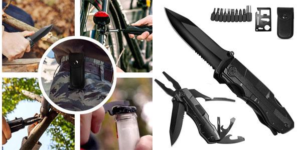 Cuchillo ORSIFOW con kit de herramientas multiuso barato en Amazon