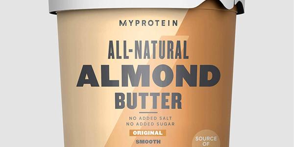 Envase Myprotein Natural Almond Butter de 1000g chollo en Amazon