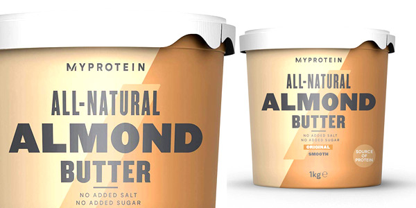 Envase Myprotein Natural Almond Butter de 1000g barato en Amazon