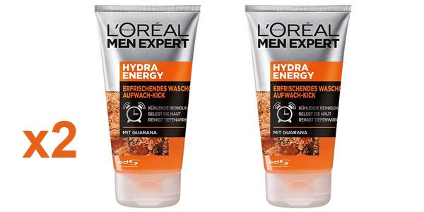 Pack x2 L'Oréal Men Expert Gel de Limpieza Hydra Energy para Despertar de 100 ml/ud barato en Amazon