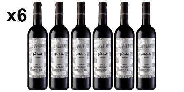 Pack x6 botellas Vino tinto Gladium Viñas Viejas Crianza de 750 ml barato en Amazon