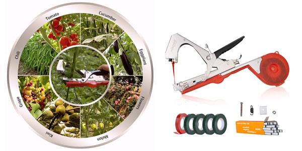 Atadora manual AOSOME para jardinería barata en Amazon