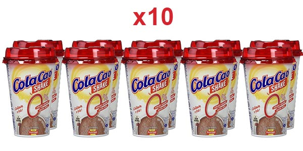 Pack x10 vasos Cola Cao Shake 0% de 200 ml/ud barato en Amazon