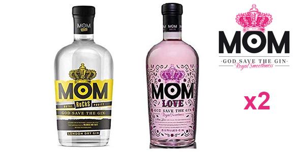 Pack x2 MOM Rocks London Dry Gin + MOM Love Distilled Gin Royal Smoothness de 700 ml/ud barato en Amazon