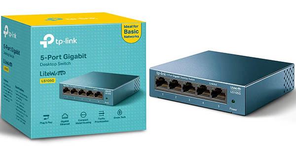 Switch TP-Link LS105G de 5 Puertos 10/100/1000