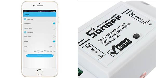 Sonoff con control por app