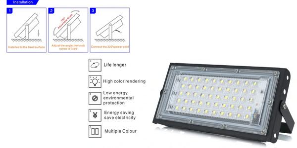 Foco LED exterior de 50 W oferta en AliExpress