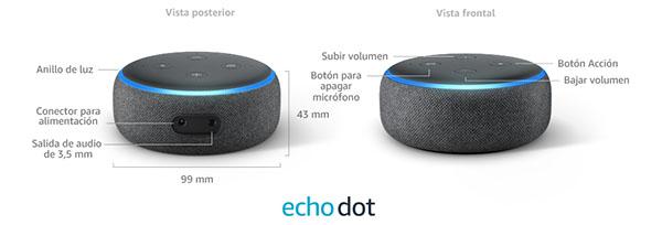 Botones del Amazon Echo dot
