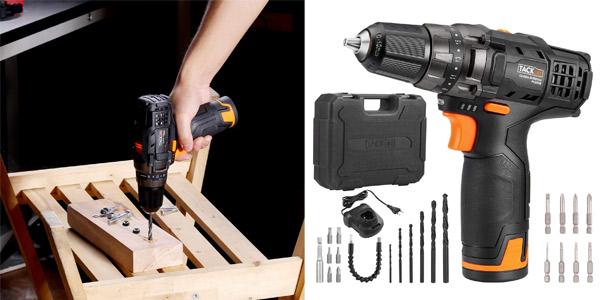 Taladro Atornillador Tacklife PCD01B + accesorios barato en Amazon