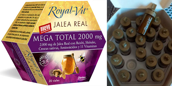 Chollo Lote de 20 viales de jalea real Royal-Vit Mega Total 2.000 mg