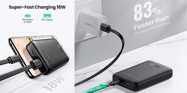 Mini Power Bank UGreen 80750 de 10.000 mAh con carga rápida barata