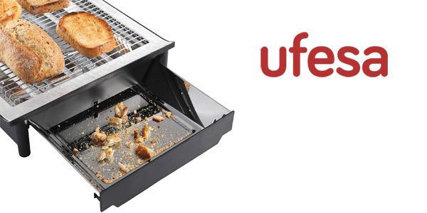 Tostador plano Ufesa TT7920 Optima de 650 W con pantalla LCD chollo en Amazon