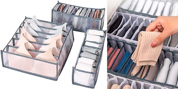 Chollo Set de 3 cajas organizadoras plegables Aomiao