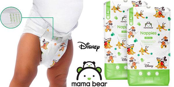 Chollo Pack de 168 pañales Mama Bear Disney ultrasecos de talla 4 (8-14 kg)