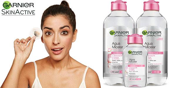 Chollo Pack de Agua micelar Garnier SkinActive Todo en uno de 900 ml