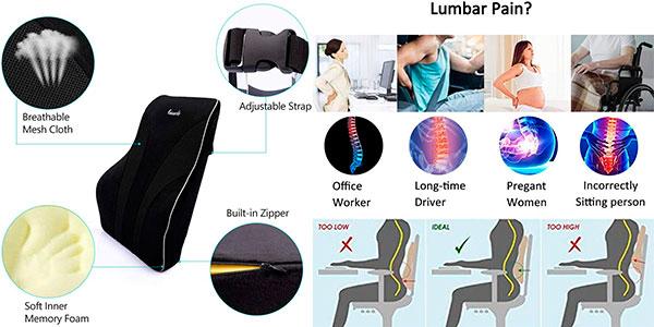 Cojín de apoyo lumbar Tusscle barato