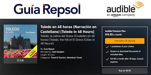 Guía Repsol audioguías de ciudades de España en audible gratis para usuarios Amazon Prime