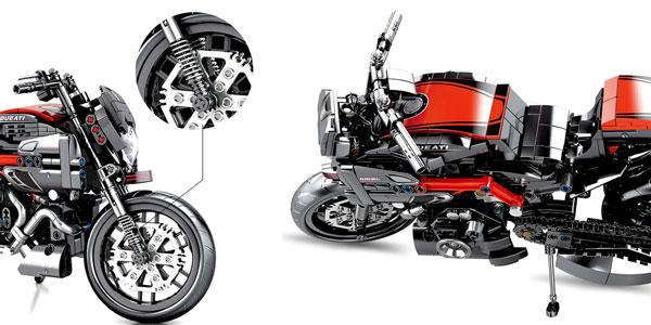 Motocicleta SEMBO tipo LEGO de 702 piezas chollo en AliExpress