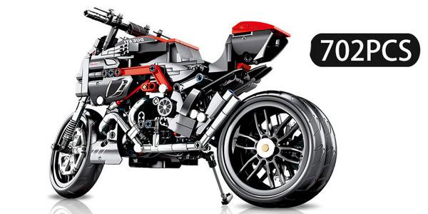 Motocicleta SEMBO tipo LEGO de 702 piezas barata en AliExpress