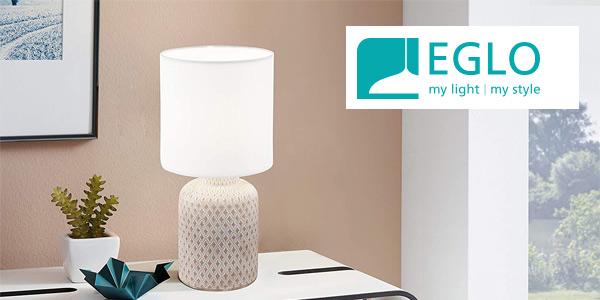 Lámpara de mesa Eglo Bellariva barata en Amazon
