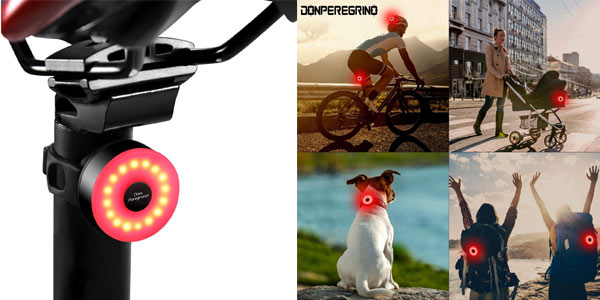 Luz Led trasera para bici Donperegrino M2 barata en AMazon