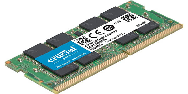 Memoria RAM Crucial DDR4 SODIMM de 16 GB