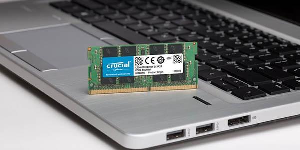 Memoria RAM Crucial DDR4 SODIMM de 16 GB en Amazon
